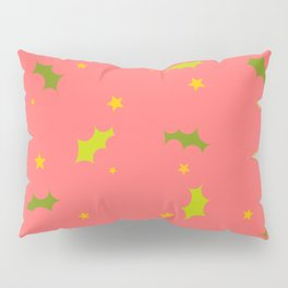 Stars and Holly Pillow Sham
