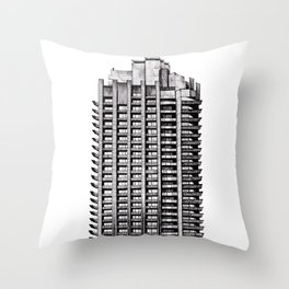 Barbican - Brutalist building illustration Throw Pillow
