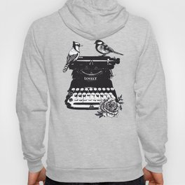 Vintage typewriter machine art Hoody