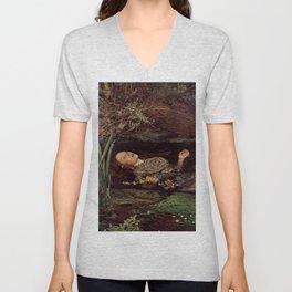 John Everett Millais, Ofelia Unisex V-Neck