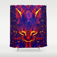 literary Shower Curtains featuring Atziluth-Sir Parker by Sir P & Lady J