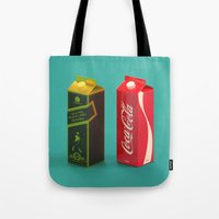 whisky Tote Bags featuring Whisky Cola by Maxim Kirienko Art