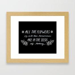 All The Flowers [black] Framed Art Print