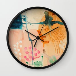 Esophagus, Abstract Watercolor Painting, Home Decor, Neutral Color, Living Room, Kitchen, Bathroom Wall Clock