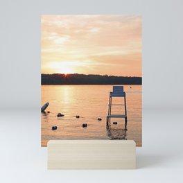 Summer Sunset Over Lake Mini Art Print