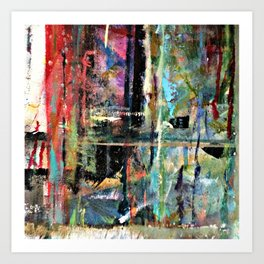 Colorful Bohemian Abstract 2 Art Print