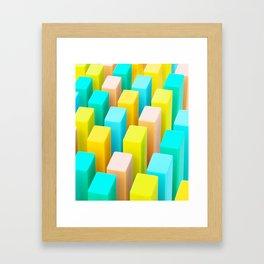 Color Blocking Pastels Framed Art Print