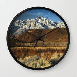 Mt Whitney And Alabama Hills Sunrise 2-26-19 Wall Clock