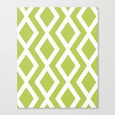 Lime Diamond Canvas Print