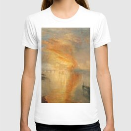 """J.M.W. Turner """"The Burning of the Houses of Lords and Commons""""(1835) T-shirt"""