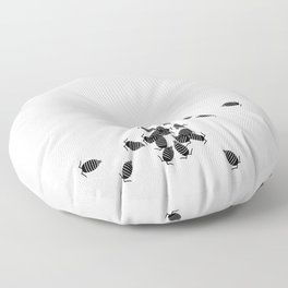 Bugs: abstract Isopod Floor Pillow