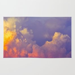 Purple Pastel Clouds Fluffy Cotton Candy Whimsical Fairytale Sky Rug
