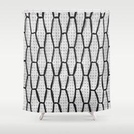 Vintage Window Grille Cross Stitch Pattern #3 Shower Curtain