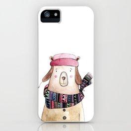 Winter bear iPhone Case