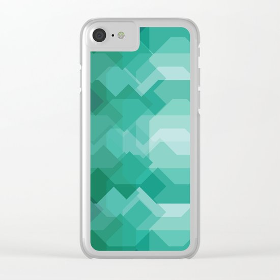 Emerald gem stone Clear iPhone Case