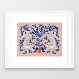 Leopard Vase Framed Art Print