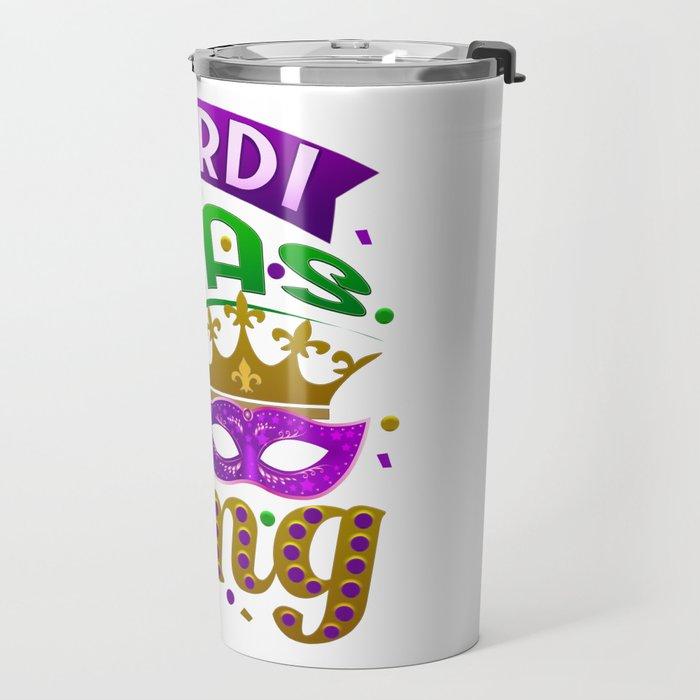 Mardi Gras Parade 2019 Beads Party Shirt Gift Idea Light Travel Mug