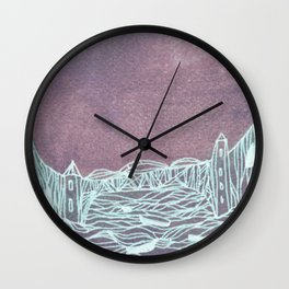 town inverted Wall Clock