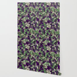 Fractal Gems 02 - Purples and Greens Wallpaper