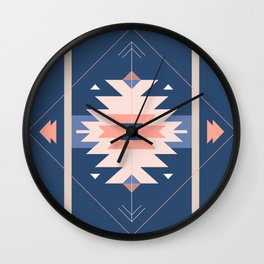 Kilim Inspired Navy Wall Clock