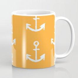 Anchors - Orange Coffee Mug