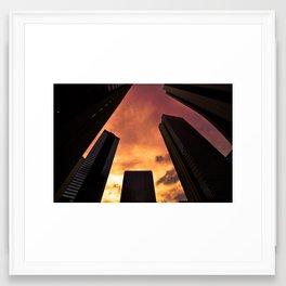 Sunset in Downtown Tokyo Framed Art Print
