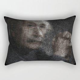 Albert Einstein, a String Art Portrait Rectangular Pillow