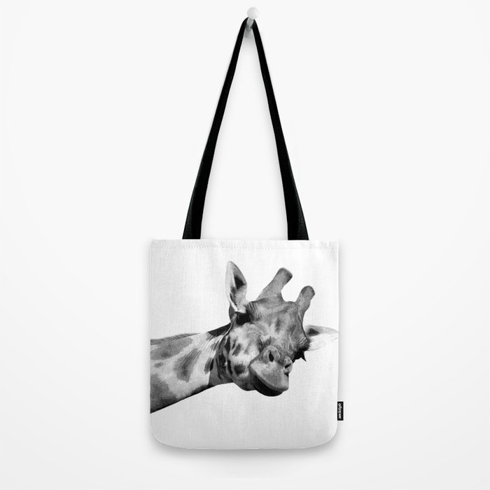 Black and white giraffe Tote Bag
