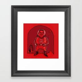 Smokebreak on Mars Framed Art Print