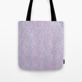 Lavender Purple Cat Print Animal Pattern with a Blush of Pink Tote Bag