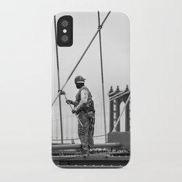 Painting the Brooklyn Bridge iPhone Case