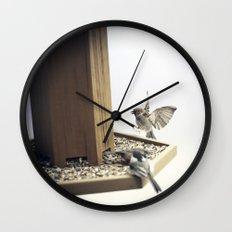 Tom Feiler Sparrows Wall Clock