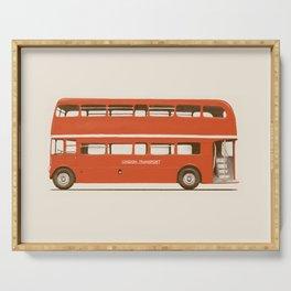 Double-Decker London Bus Serving Tray