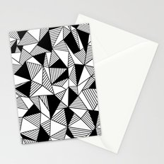 Ab Lines with Black Blocks Stationery Cards
