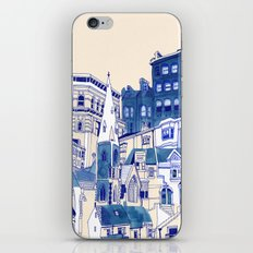 Blue Buildings iPhone & iPod Skin