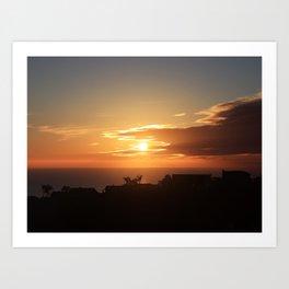 CREEPING SUNSET Art Print