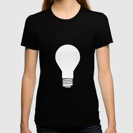 White Lightbulb Outline T-shirt