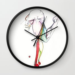 Motion 3, nude leg anatomy, NYC artist Wall Clock