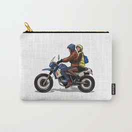 Girl with man on a bike Carry-All Pouch