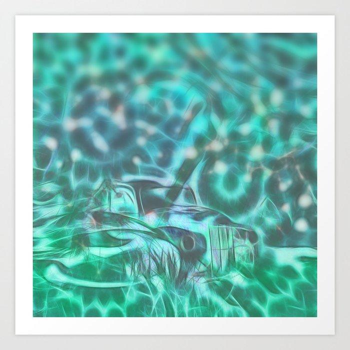Underwater wreck Art Print