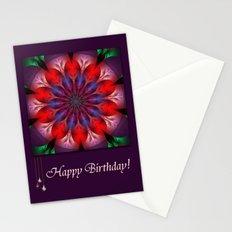 Blooming mandala Stationery Cards