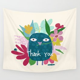Thank you - post card Wall Tapestry