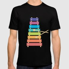 #70 Xylophone Black Mens Fitted Tee MEDIUM