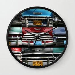 Cuba Car Grilles - Horizontal Wall Clock