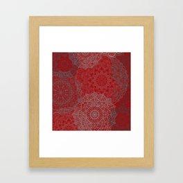 RedMandalas Framed Art Print