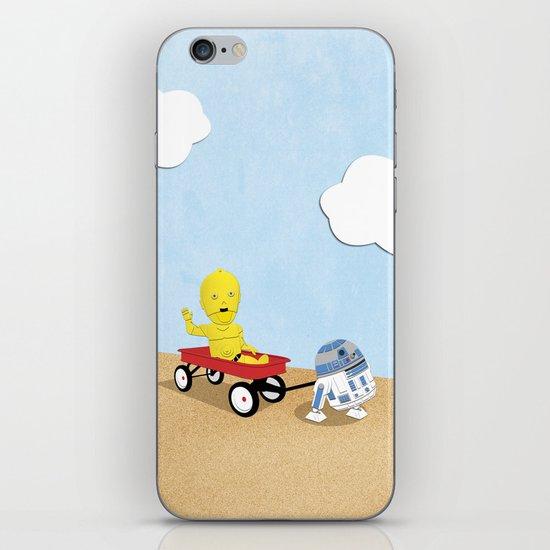 SW Kids - C3PO & R2D2 Red Wagon iPhone & iPod Skin
