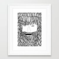 doodle Framed Art Prints featuring Doodle by David