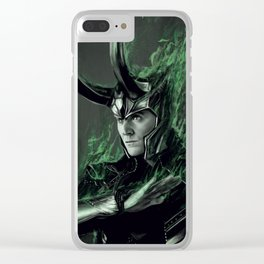 Green Fire Clear iPhone Case