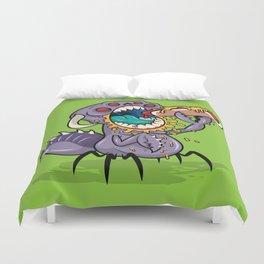 Om Nom Alien Bug Duvet Cover