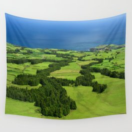 Typical Azores landscape Wall Tapestry